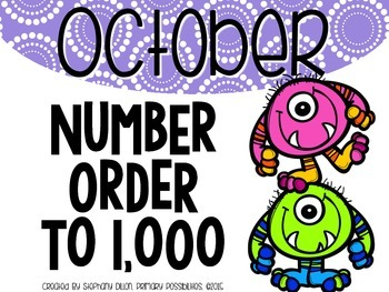 Number Order to 1,000 {October}