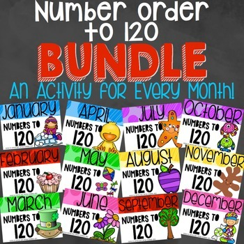 Number Order to 120 Activity Bundle