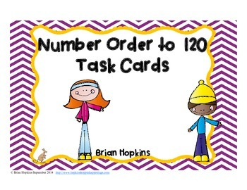 Number Order to 120 Task Cards