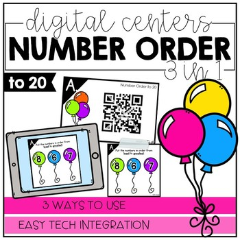 Number Order to 20 - Digital Math Centers