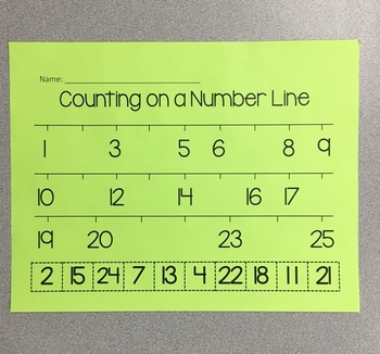 Number Order to 25