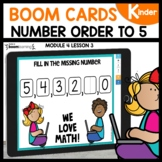Number Order to 5 |BOOM Cards |Digital |Distance Learning
