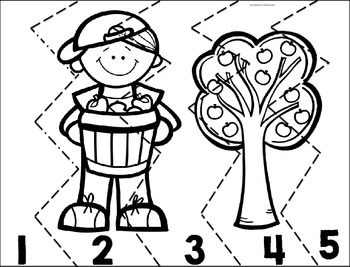 Number Order to 5 Puzzle-FREEBIE!