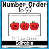 Number Order to 99 Editable Task Cards