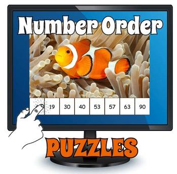 Smartboard Number Ordering Game