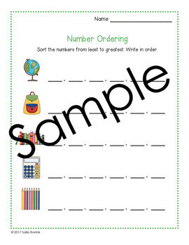 Number Ordering 0-999