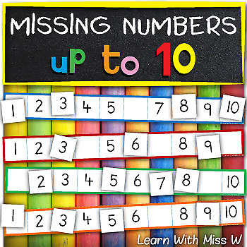 Number Ordering Game: missing numbers to 10