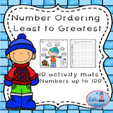 Number Ordering ( least to greatest numbers up to 100 )