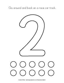 Number Outlines / Playdough Mats