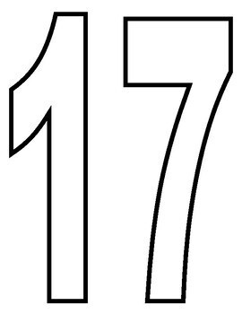 Number Outlines