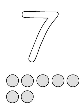 Number Outlines Dough Mats: 1-10