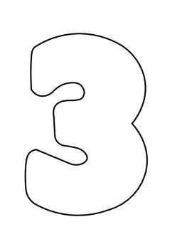 Number Outlines for crafts