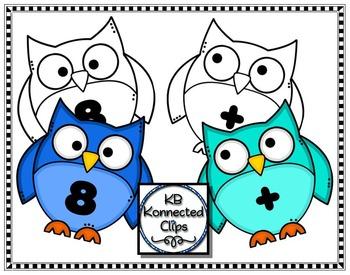 Number Owls Clip Art