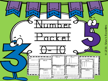 Number Packet {Mats & Tracing}