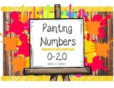 Number Painting - Number Recognition & Writing Worksheet 0-20 Word to Number
