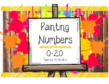 Number Painting- Number Recogniton & Writing Worksheet Num