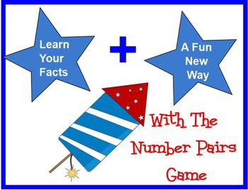 PRINTABLE Number Pair - ADDITION FACTS - Card Game