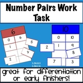 Number Pairs Work Tasks