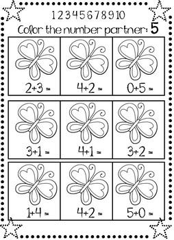 Number Partner Solve and Color Freebie!
