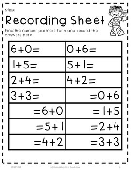 Number Partners For 6 and 7
