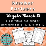 Number Partners for Numbers 6 - 10
