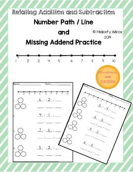 Number Path Subtraction Addition Practice