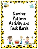 Number Pattern Activity and Task Cards
