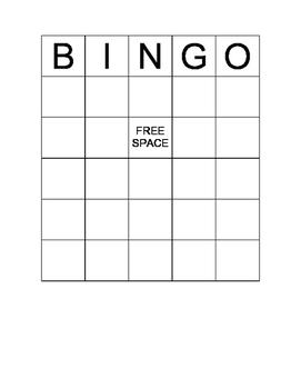 Number Pattern Bingo