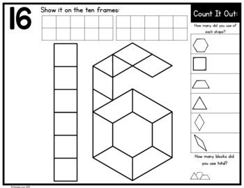 Number Pattern Block Mats