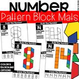 Pattern Block Number Mats - Fine Motor Fun!