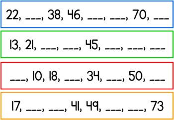Number Pattern Cards Set 3