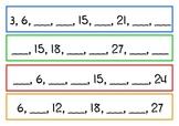 Number Pattern Cards set 2