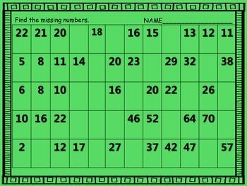 Number Pattern Center