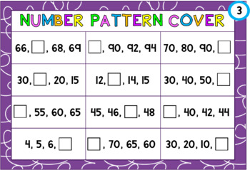 Number Pattern Cover: 1s, 2s, 5s, 10s