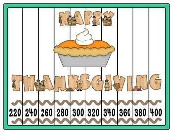 Number Pattern Puzzles  ~ Thanksgiving