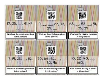 Number Pattern QR Code Task Cards