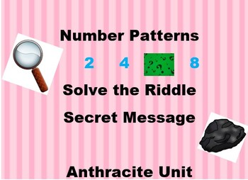 Number Pattern Solve the Riddle
