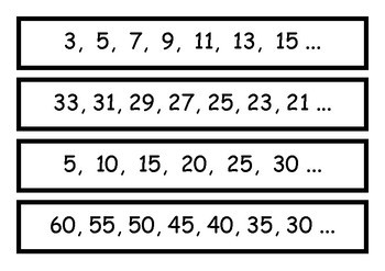 Number Pattern Strips