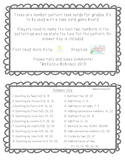 Number Pattern Task Cards