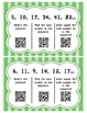 Number Pattern Task Cards - With QR Codes
