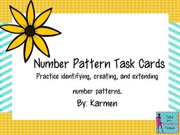 Number Pattern Task Cards1