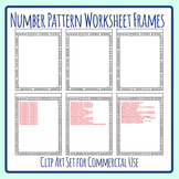 Number Pattern Worksheet Borders for Early Finishers Template Clip Art