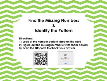 Number Pattern with QR Codes