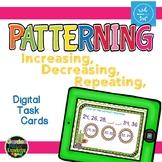 Number Patterning - Interactive Digital Task Cards - Boom Cards