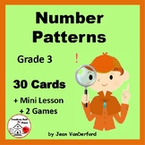 Number Pattern Activities | Task Cards | Mini Lesson | SCOOT| REVIEW | Gr 3 MATH