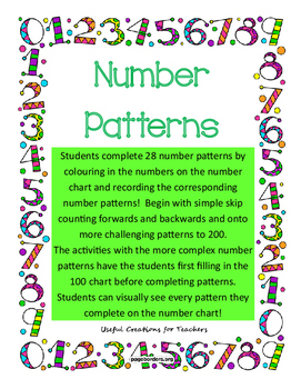 Completing Number Patterns on Number Charts