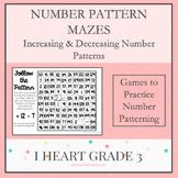 Number Pattern Mazes for Increasing and Decreasing Number