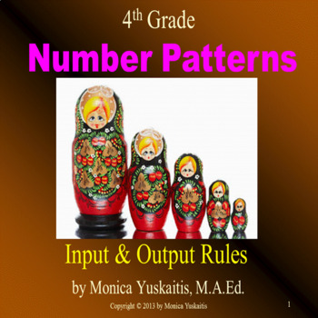 Common Core 4th - Number Patterns