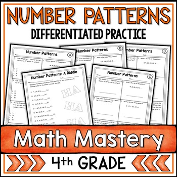 number patterns worksheets teaching resources  teachers pay teachers number patterns worksheets number patterns worksheets