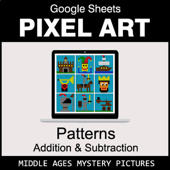 Number Patterns: Addition & Subtraction - Google Sheets - Middle Ages